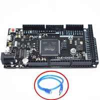 Carte DUE R3-CH340/Due R3-ATMEGA16U2/CH340G ATSAM3X8E bras carte de commande principale avec câble USB 50cm pour arduino