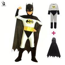 Bat super herói trajes crianças halloween trajes de natal para crianças criança fantasia vestido anime traje meninos cosplay bat manto