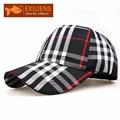 [EXILIENS] 2017 marca de moda plaid top de algodón gorra de béisbol bboy hip-hop snapback caps strapback sombreros para hombres mujeres sombrero equipada