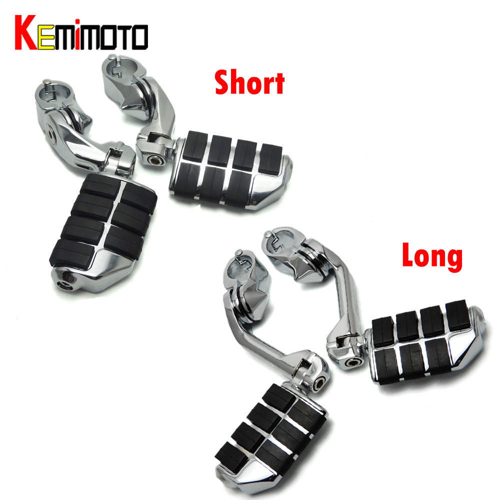 32mm foot pegs for Motorcycles Long & Short Highway Clamps For Harley Foot Pegs Touring Electra Street Glide For Honda Shadow 360 degree adjustable new short highway foot pegs footpeg footrests for 32mm harley electra road king street glide 1 1 4 bars