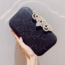 Angelatracy 2019 New Arrival Easy Diamond Matching Banquet Feast Chain Dinner Party Evening Bag Minaudiere Messenger Bags Flap
