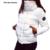 2017 NUEVO de Las Mujeres de Moda Escudo Otoño Invierno Mujer Down Jacket Parka Inverno Parkas Chaquetas Casuales Wadded más tamaño