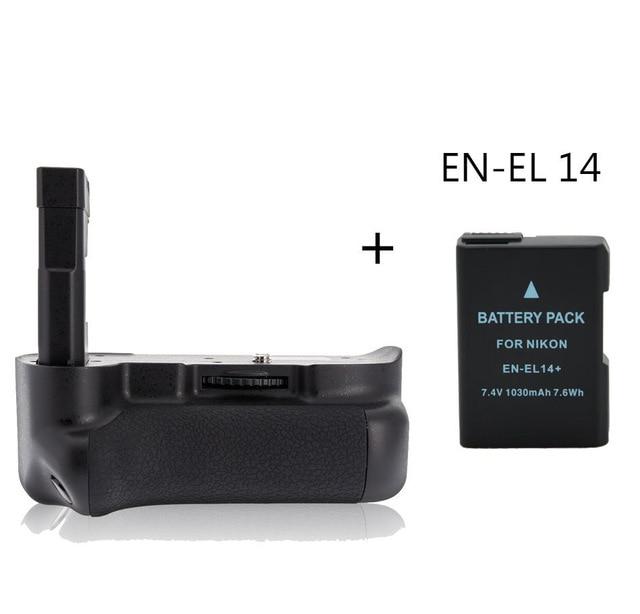 цена на MeiKe MK-D3100 Battery Grip Holder for Nikon D3100 D3200 + EN-EL 14 battery