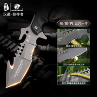 OUTDOORS Predator Survival Camping Knife, 440C Hunting Survival Tactical Knife Rescue Hunting Knives with Sheath ,G10+Steel