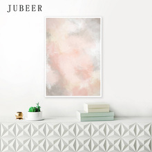 Nordic Style Blush Pink and Grey Posters Prints Abstract Canvas Painting Extra Large Wall Art Decoration Picture