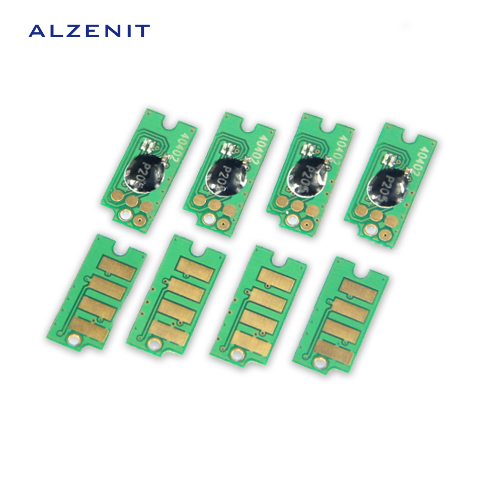 4Pcs ALZENIT For Xerox CP105 CM205 CP205 215 CM215 OEM New Drum Count Chip Four Color Printer Parts On Sale cs dx18 universal chip resetter for samsung for xerox for sharp toner cartridge chip and drum chip no software limitation