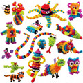 406pcs Kid Educational Assembling 3D Puzzle Toys DIY Puff Ball Squeezed Variety Shape Creative Handmade Toy Puzzles For Children
