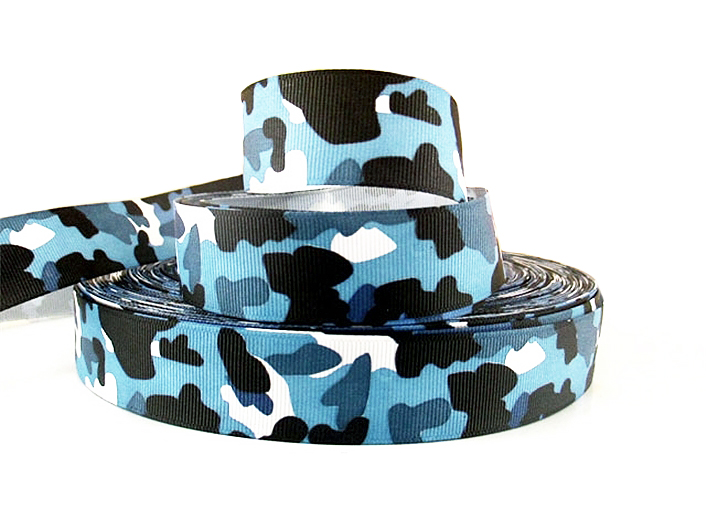 1''(25mm) camo Camouflage Grosgrain ribbon printed ribbon Bow Material gift packing,clothing accessories,50Yc206