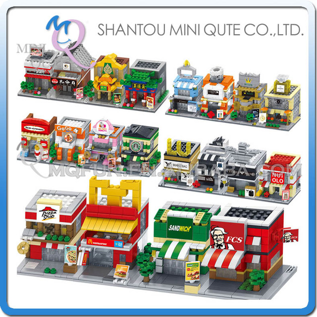Conjunto completo 5 unids/lote Mini Qute DR. ESTRELLA de patios de Comida Accesorios Ropa modelo de educación bloques de construcción de plástico juguetes educativos