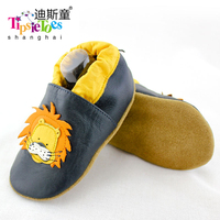 Dobest Brand Casual Lion Genuine Leather Soft Baby Kids Toddler Shoes Moccasins For Boys First Walkers