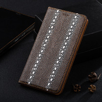High Quality Pearl Fish Texture Leather Cover For Xiaomi Redmi 4X 4A Luxury Magnetic Flip Stand