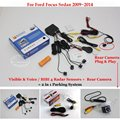 For Ford Focus Sedan 2009~2014 - Car Parking Sensors + Rear View Back Up Camera = 2 in 1 Visual / BIBI Alarm Parking System