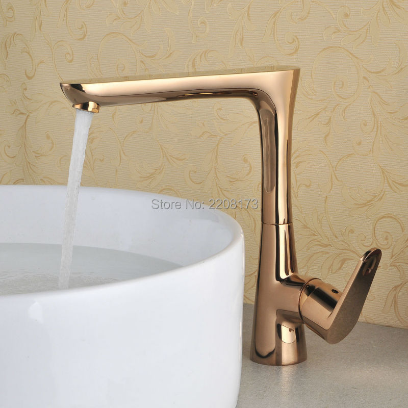 Smesiteli Factory direct 100% Brass Kitchen Faucets Rose Gold Finish 360 Degree Swivel Kitchen Faucet Hot and Cold Water Tap цена