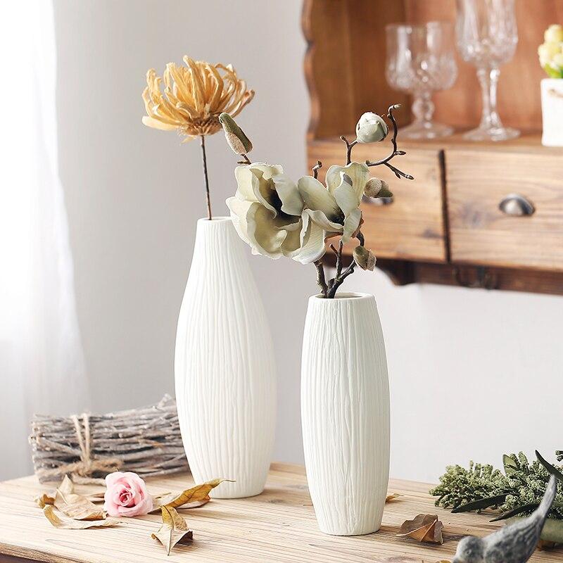 spesso Antico di Nozze di Ceramica Vaso Decorativo Moderno Bianco Vaso di  EO32