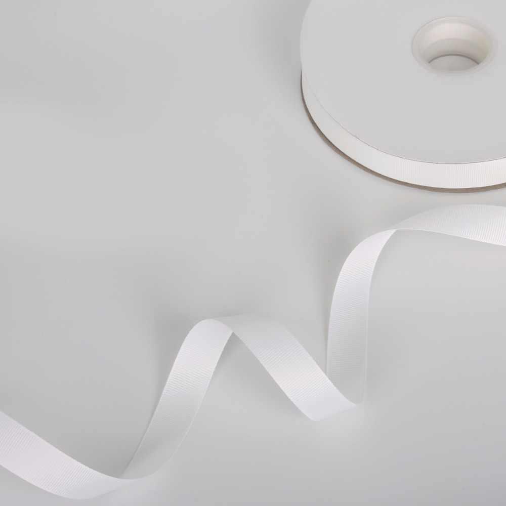100 metrów/rolka 7-38mm biała wstążka rypsowa hurtowy prezent na prezent do pakowania boże narodzenie wstążki DIY wzrosła łuk i akcesoria do szycia