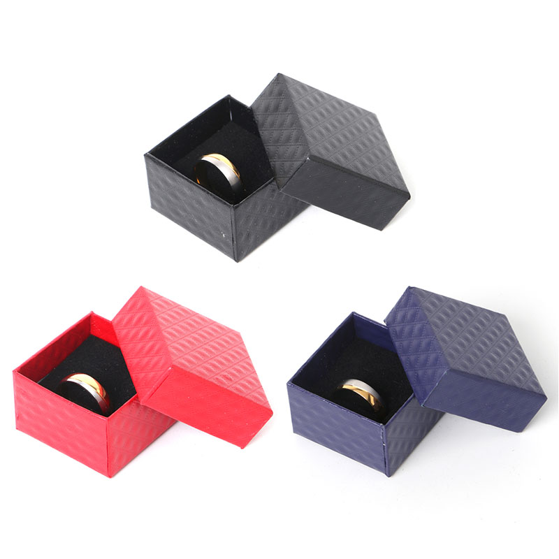 Paper Cardboard Jewelry Ring Necklace Earring Display Case Storage Box