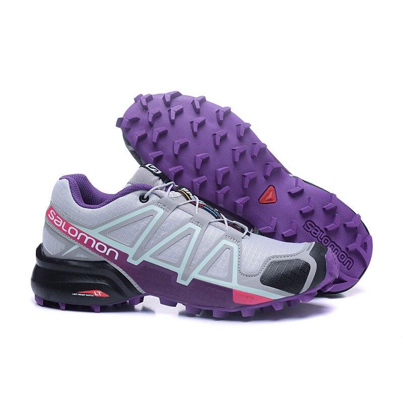 Violet Salomon Speed Cross 4 Free Run Gris Femme Sport Chaussures de Course En Plein Air Sneakers Femmes Chaussures GRANDE TAILLE