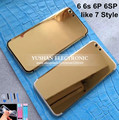 For Iphone 6 6s 6Plus 24K Gold Housing 7 style Back Replacement Mid Frame Bezel Battery Door with Logo&Buttons&Sim Tray Free DHL