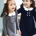 Princess Girl Dresses Spring Autumn Long Sleeve Cotton Children's dress Doll Collar Casual Girls A-line Mini Infant Dress