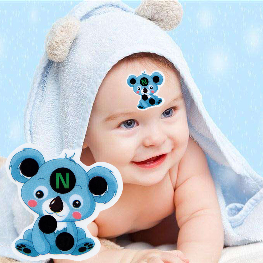 Childrens Safety Cartoon Thermometer For Baby Care Sticker LCD Forehead Thermometers Body Fever Thermometers