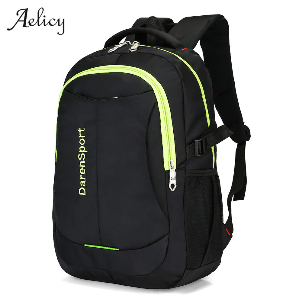 Aelicy Brand Laptop Bag Backpack Men Large Capacity Nylon Co
