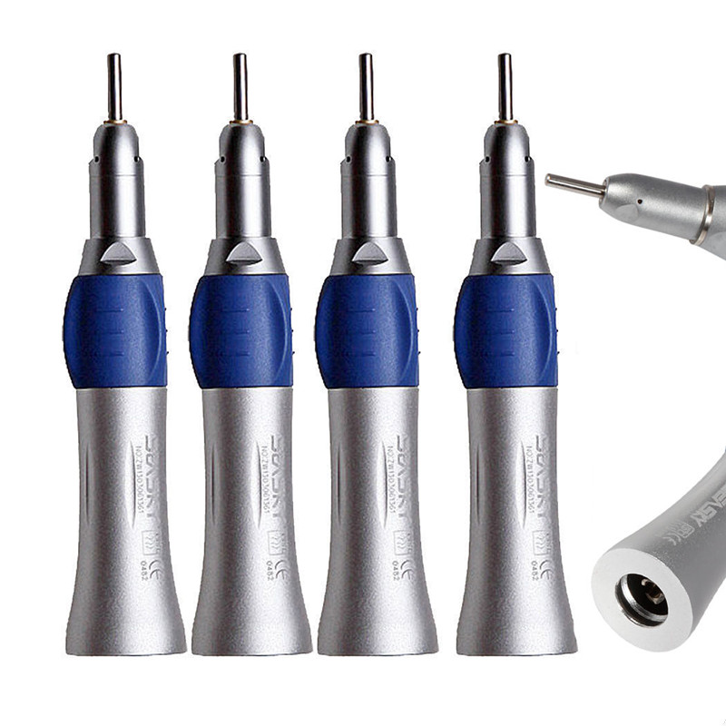 4 PCS NSK Dental Slow Low Speed Straight Nose Cone Handpiece fit E TYPE Motor