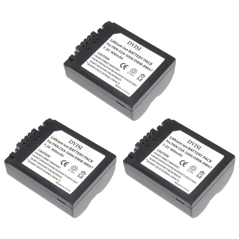 900mAh CGA-S006 CGR CGA S006E S006 S006A DMW-BMA7 DMW BMA7 Battery for Panasonic DMC FZ7 FZ8 FZ18 FZ28 FZ30 FZ35 FZ38 FZ50 SLR ...