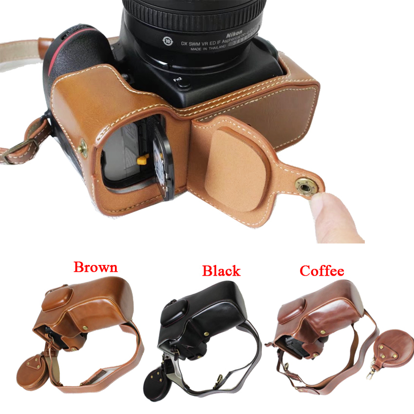 New Luxury Video Camera Case Bag For Canon 100D 18 55mm Lens Camera Cover With Strap +Mini Pouch +Open Battery Directly