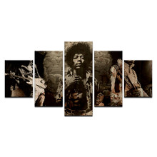 "5 Pcs James Marshall Vintage Poster ""Jimi"" Hendrix Kraft Paper Mural For Cafe Bar Home Decoration Wall Art Printed Canvas Paint(China)"