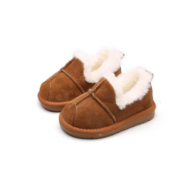 2018 de invierno nuevos niños zapatos antideslizantes del niño más cálido  terciopelo niños nieve botas niños f276f431ec8