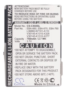 Cameron Sino 750mAh Battery EBA-660,EBA-670 for Siemens A31,A58,AX72,AX75,C65,C65v,C66,C70,C71,C72,C75,C81,CF62,CF62T,CF63,CF65(China)