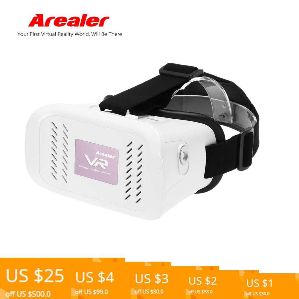 Arealer google cardboard VR Virtual Reality 3D Glasses VR Glasses Headset DIY Movie Game Video Head-Mounted for 3.5~6 Phone