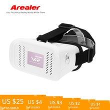 b9679f9f1 (سفينة من US) Arealer google كرتون VR الواقع الافتراضي 3D نظارات VR نظارات  سماعة DIY فيلم لعبة فيديو رئيس محمولة ل 3.5 ~ 6