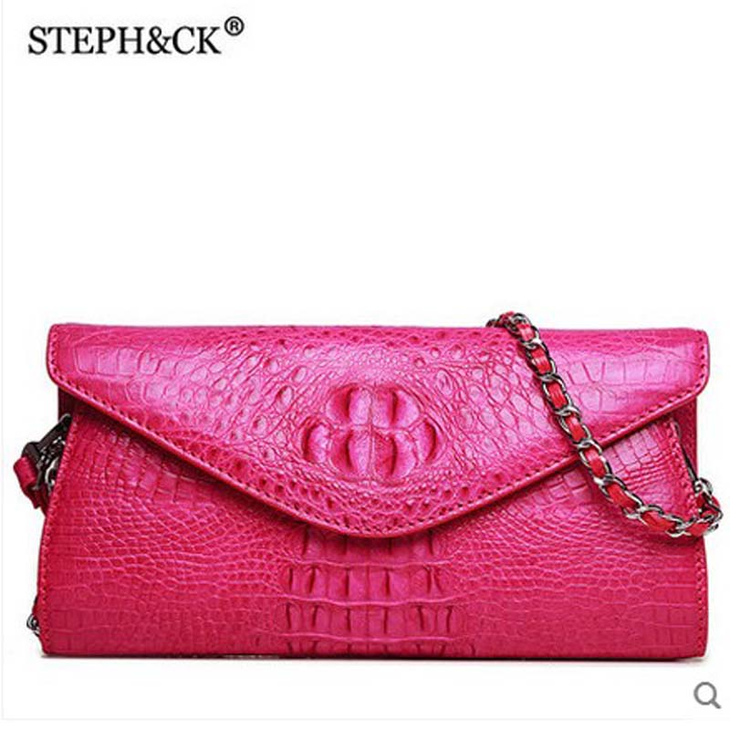 shidifenni crocodile Ladies' single shoulder bag  women bag female European and American fashion handbag female women bag yuanyuqiiandian thai crocodile female bag imported crocodile leather single shoulder bag ladies fashion women long chain bag