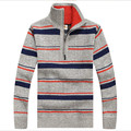 Brand Clothing Men Autumn Hit Color Sweater Wool Warm Male Cardigan England Style Men'S Turtleneck Ws937