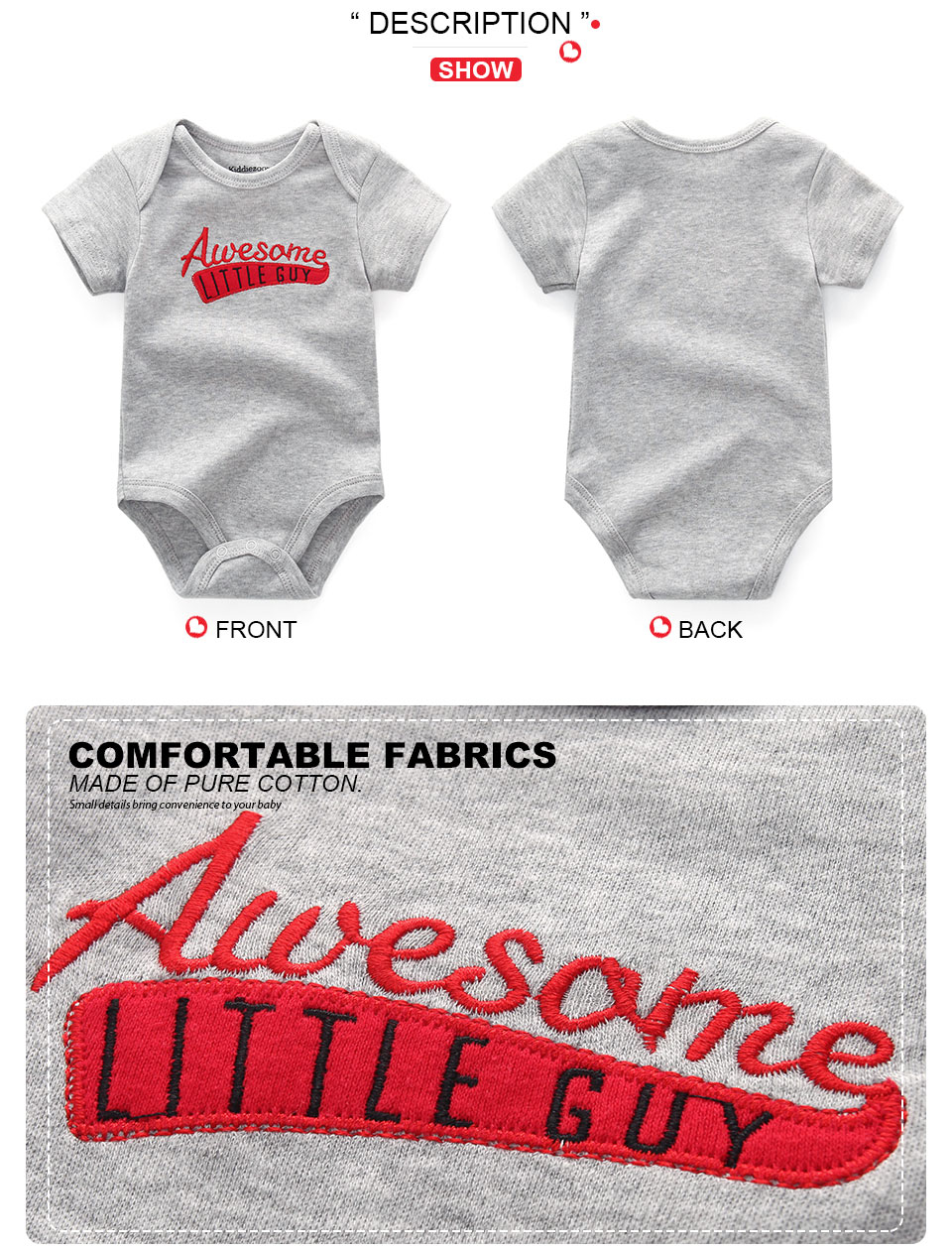 HTB1gaCOKeOSBuNjy0Fdq6zDnVXan 2019 6PCS/Lot Unisex Unicorn Baby Boy Clothes Cotton Kids Clothes Newborn Rompers 0-12M Baby Girl Clothes Roupa de bebe