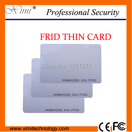 Free shipping EM4200 chip,ABS 125KHZ RFID card 0.88MM thickness recognition distance 8-10 cm proximity card smart card