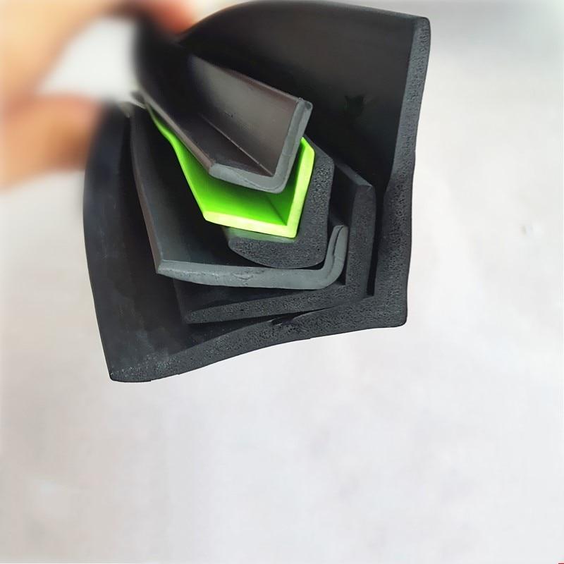 L Shape Rubber Sealing Strip Edge Encloser Shield Protector Black Green