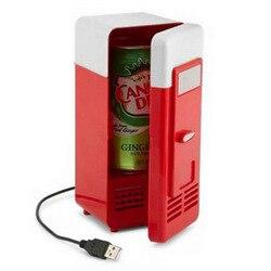 Desktop Mini kühlschrank mit gefrierfach USB heizung kühler Kühlschrank USB Kühlschrank auto Kühler Gadget Getränke Getränkedosen Kühler & Wärmer