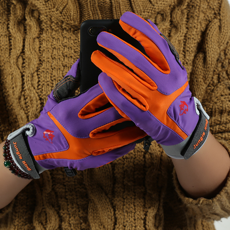 Female non-slip touch screen fishing climbing hiking glove Breathable Creative outdoor nylon gloves