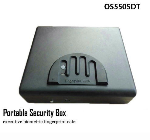 Portable Security Gun Box Fingerprint & Key Lock 2 in 1 Safes For Money Valuables Jewelry Pistol Storage Car Safety Box OS550SDT цена