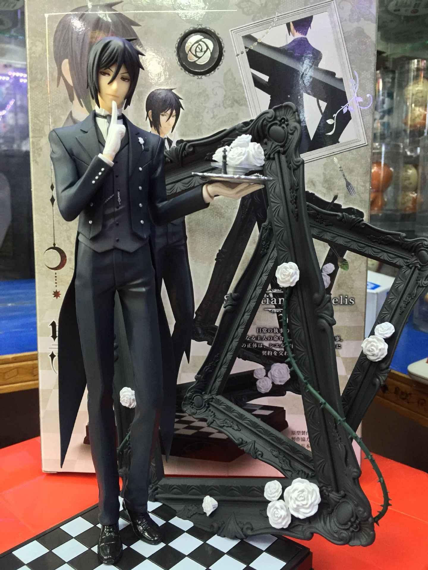 Black Butler 25 cm Livro De Circo Animação Sebastian Michaelis anime japonês figuras de ação & toy figuras Model Collection