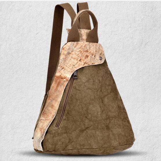 ФОТО Manjianghong Washed Canvas Bag Fashion Vintage Backpack Bag Cowhide Man's Backpack Mochila Bag Lona 1522