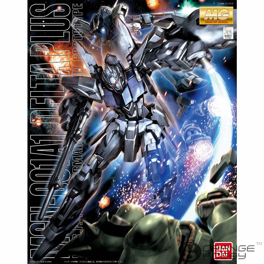 OHS Bandai MG 147 1/100 MSN-001A1 Delta Plus Mobile Suit Assembly Model Kits ohs bandai hguc 116 1 144 msn 06s sinanju mobile suit assembly model kits