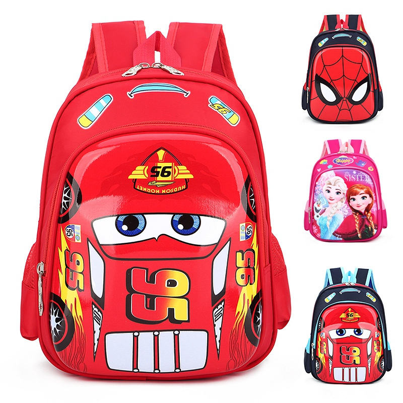Disney Car Kid Cartoon Bag For School Children Kindergarten Backpack Boys Girls Travel Storage Book Bag