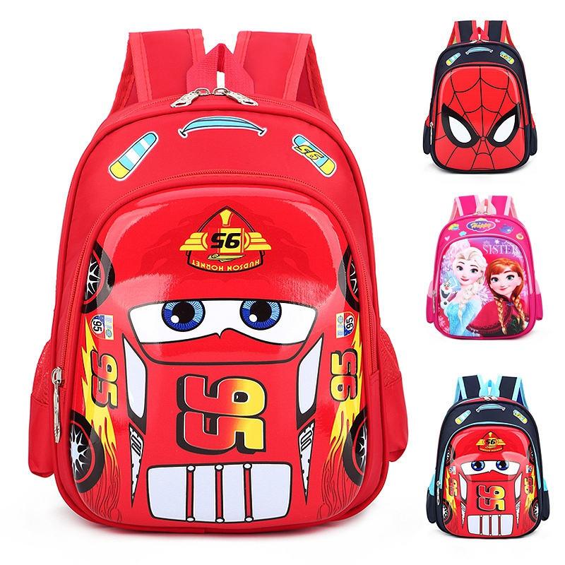 Disney Car Kid Cartoon Bag For School Children Kindergarten Backpack Boys Girls Travel Storage Book Bag