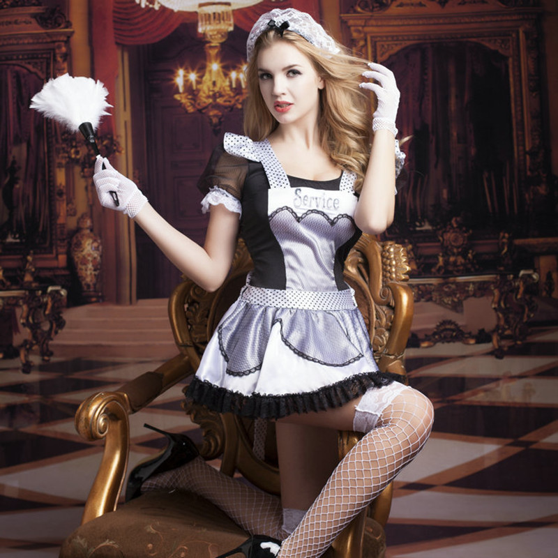 New Arrival Nite French Maid Costume Room Servant Cosplay Outfit Erotic Adult Women Sexy Lingerie Hot Servant Costumes 9728