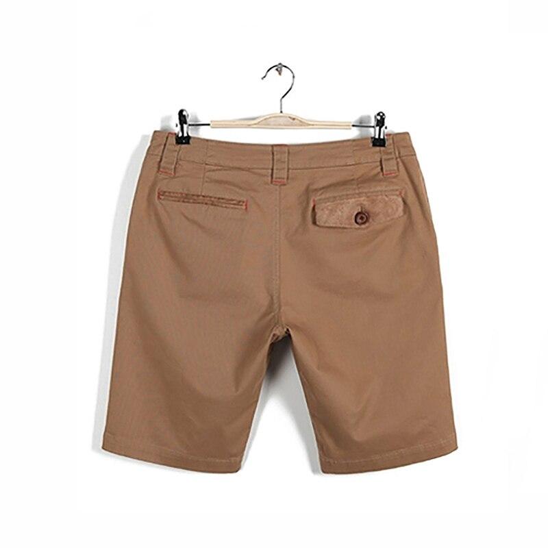 Markless Summer Casual Men Shorts para hombre sólido de color caqui - Ropa de hombre - foto 3