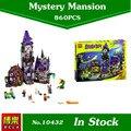 Nueva Bela 10432 Scooby Doo Misteriosa Casa Fantasma 860 unids Compatible 75904 Bloques de Bloques de Construcción de Juguetes de regalo