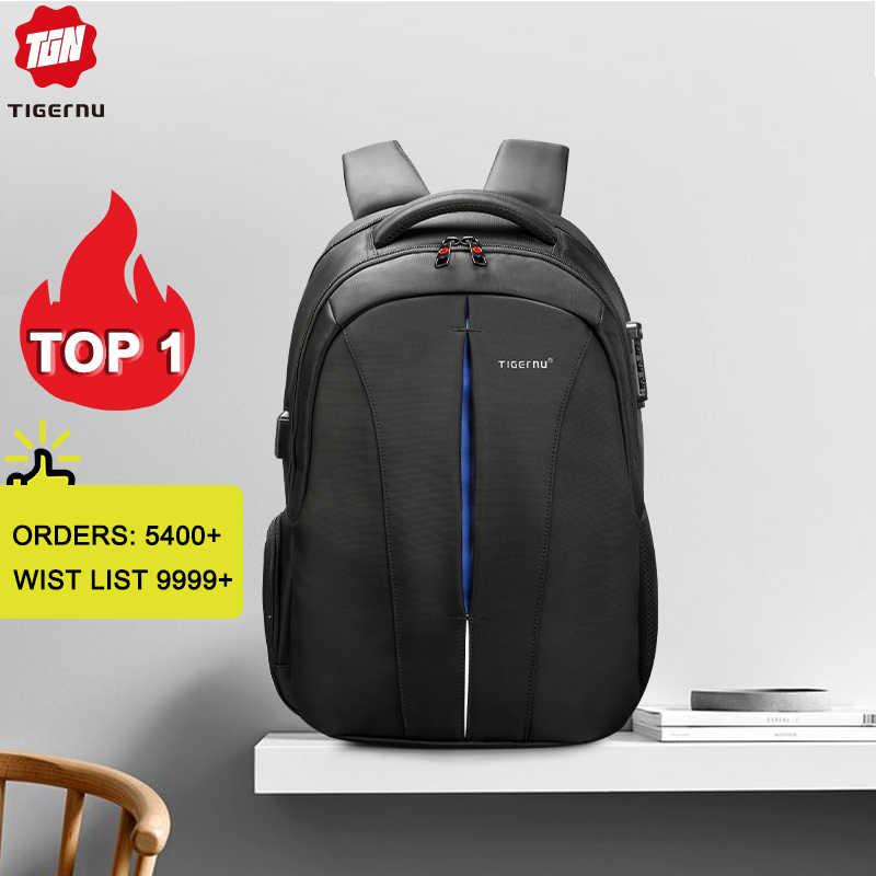 Tigernu бренд Против водой 15.6 дюймов ноутбук рюкзак НЕТ ключ TSA Анти-вор мужской Путешествие подростки рюкзак для школы мужчины рюкзаки школьный портфель мужской рюкзак